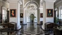 Biała sala w Bibliotece Uniwersytetu Stefana Batorego w Wilnie