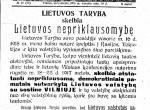 Niepodległa Litwa