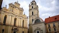 Wielki Dziedziniec Uniwersytetu Wileńskiego i Kościół św Jana. Autor zdjęcia: Mantas Indrašius