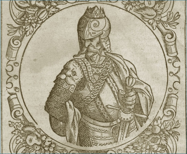 "Miedzioryt księcia Giedymina, ""Sarmatiae Europeae descriptio"" - autor Alexander Guagnini"