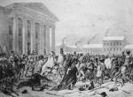Napoleon 1812 r. Plac Ratuszowy w Wilnie