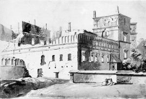 Zburzony Palac Wladcow, Wilno