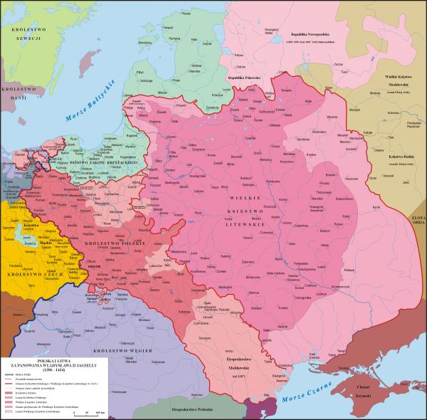polska mapa XIV-XV w.