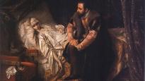 Śmierć Barbary Radziwiłłówny, pędzla Józefa Simmlera