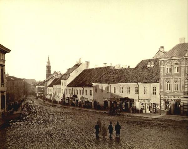 Stare Wilno. Ulica Wielka (w stronę ulicy Zamkowej i Katedry Wileńskiej)