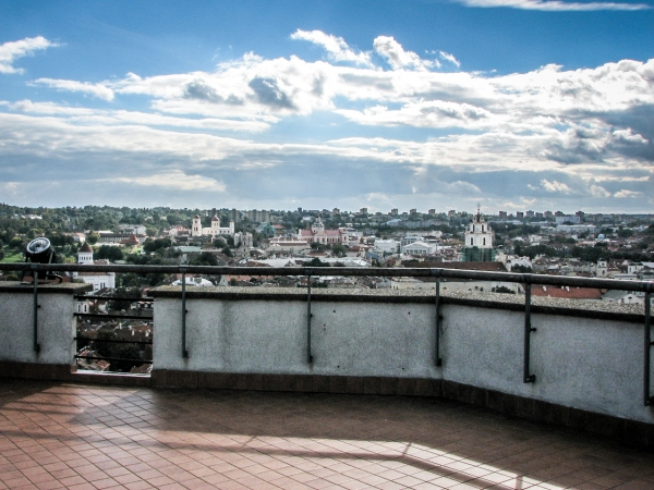 Wieża Giedymina - widok z tarasu