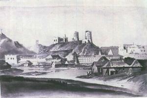 Wieża Giedymina - rysunek Smuglewicza